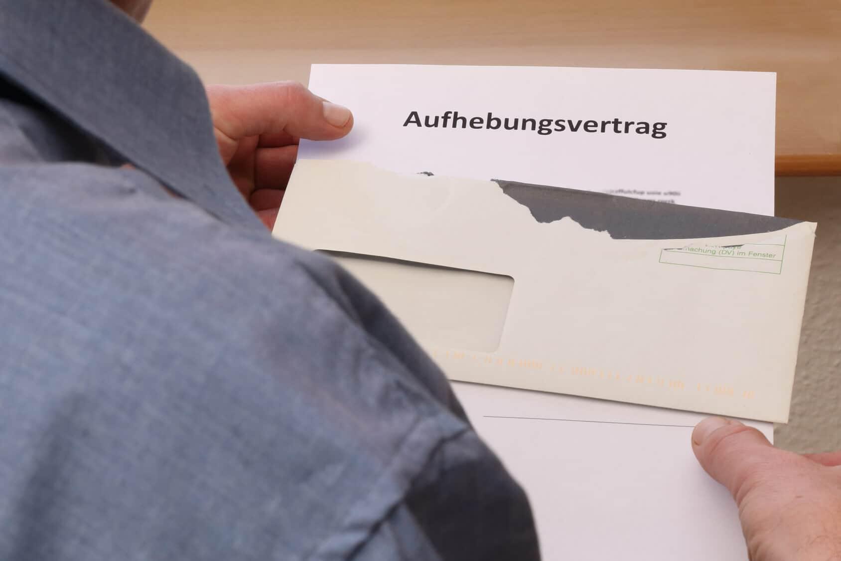 Aufhebungsvertrag © Fotolia/Joachim Lechner